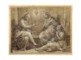 Christ in the House of Martha and Mary Giclée-Druck von Giorgio Vasari