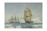 Hms Alert and Hms Discovery, 1876 Giclee Print by William Frederick Mitchell