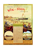 Wyk Auf Fohr', Poster Advertising the Wyk Steam Shipping Company, 1897 Giclee Print by German School