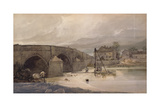 Harewood Bridge, C.1801 Giclee Print by Thomas Girtin