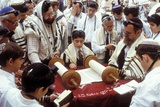 A Boy Reading the Torah During His Bar Mitzvah Photographic Print