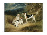 The Duke of Rutland's Hounds with Belvoir Castle in the Distance, 1828 Giclee Print by Henry Perlee Parker