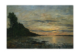 Plougastel, Sunset over the Estuary, C.1870-73 Giclee Print by Eugène Boudin