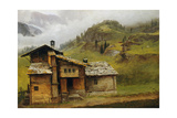 Mountain House Giclee Print by Albert Bierstadt