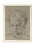Head of a Girl Giclée-tryk af Domenichino