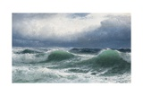 Stormy Sea with Translucent Breakers, 1894 Giclee Print by David James