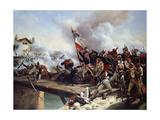 The Battle of Pont D'Arcole, 1826 Giclée-tryk af Horace Vernet