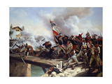 The Battle of Pont D'Arcole, 1826 Giclée-Druck von Horace Vernet