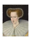 Portrait of Anne of Denmark, 1595 Giclée-Druck von Adrian Vanson