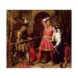 Assassination of Alboin, King of the Lombards, 1856 Giclee Print by Charles Landseer
