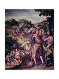 Recapture of the Island of San Cristobal in 1634 Giclee Print by Felix Castello