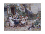Teatime Giclee Print by Myles Birket Foster