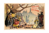 Poster Advertising Wagner's 'Lohengrin', C.1891 Giclee Print by Alfred Choubrac