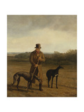 Portrait of Lord Rivers with Two Greyhounds, C.1825 Giclee Print by Jacques-Laurent Agasse