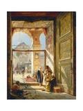 Gustave Bauernfeind - The Gate of the Great Umayyad Mosque, Damascus, 1890 Digitálně vytištěná reprodukce