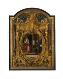 St. Luke Painting the Virgin's Portrait Giclee Print by Lancelot Blondeel