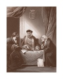 Henry VII with Empson and Dudley, Engraved by A.H. Payne Giclee Print by Robert Smirke