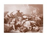 Battle of Bosworth Field, Engraved by A.H. Payne Giclee Print by Philippe De Loutherbourg