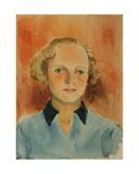 Zhenya, Komsomol Girl, 1930s Giclee Print by Natalia Aleksandrovna Gippius