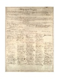 Congressional Copy of the Thirteenth Amendment Resolution, February 1 1865 Giclee Print by Abraham Lincoln