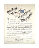 President Lincoln's Emancipation Proclamation, January 1 1863, 1864 Giclee Print by Abraham Lincoln