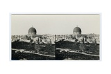 Panoramic View of the Haram from the Southeast, 1850s Giclee Print by Mendel John Diness