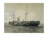 Steamship 'Alagoas' in Which Traveled the Brazilian Royal Family of Emperor Pedro II (1825-1891)… Giclee Print