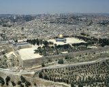 Jerusalem - Aerial View from South / East with Temple Mount and Mosque of Omar Photographic Print