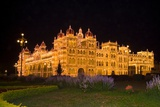 Maharaja's Palace Illuminated at Night with 97,000 Lightbulbs, Mysore, Karnataka, India Photographic Print
