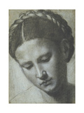 A Woman's Head with Braided Hair Giclee Print by Alessandro Bonvicino Moretto