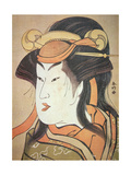 Head of Japanese Male Actor in Female Role, C.1787-88 Giclee Print by Katsukawa Shuncho