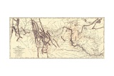 Map of the Lewis and Clark American Expedition, 1804-1806, Published 1814 in History of the… Giclee Print