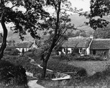Cottages at Tarbet, Loch Lomond, C.1860-80 Photographic Print by George Washington Wilson