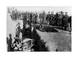 Bureal (Burial) of the Dead at the Battlefield of Wounded Knee, South Dakota, 1891 Photographic Print