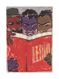People of the Developing World Studying Lenin, C.1960s Giclee Print by Vadim Petrovich Volikov
