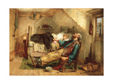 Worn Out, 1868 Giclee Print by Thomas Faed