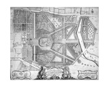 Plan of Ye Royal Palace and Gardens of Kensington, 1736 Giclee Print by John Rocque