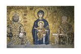 John II Comnenos and Empress Irene. Mosaic Giclee Print