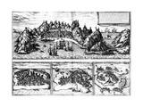 Views of Aden, Mombaza, Quiloa and Cefala, from Georg Braun's 'Civitates Orbis Terrarum',… Giclée-Druck von Georg and Hogenberg, Franz Braun