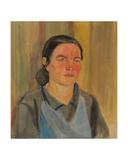 Lyuba the Calf Caretaker, 1939-40 Giclee Print by Natalia Aleksandrovna Gippius