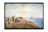 Embarkation of the Pilgrims Giclee Print by Edward Moran
