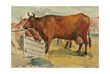 Cows, 1930s Giclee Print by Natalia Aleksandrovna Gippius