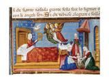 Birth of Mary. Codex of Predis (1476). Italy Giclee Print