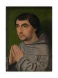 Right Panel of the Diptych of a Franciscan Friar Giclee Print by Jan Provoost