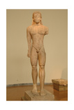 Greek Art. Kouros Dedicated to Poseidon. VII Century B.C. Giclee Print
