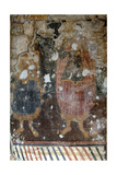 Byzantine Art. Republic of Albania. Frescoes in Lekuresi Castle. Saranda Giclee Print