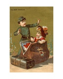 A Surprise in the Luggage, from a Series of Illustrations of Children, Produced as Promotional… Giclee Print