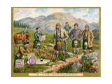 In the Highlands', a Promotional Card for Huntley and Palmers Biscuits, C.1890 Giclee Print