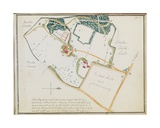 Map from 'Red Books', for 'Mogenhanger in Bedfordshire, a Seat of Godfrey Thornton Esq.', 1792 Giclee Print by Humphry Repton