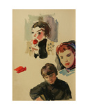Portraits of Kolkhoz Youth, C.1960s Giclee Print by Vadim Petrovich Volikov